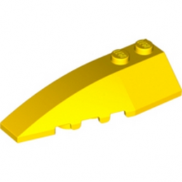 LEGO 4160129  LEFT SHELL 2X6 W/BOW/ANGLE - JAUNE