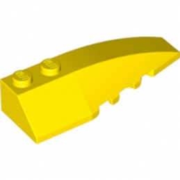 LEGO 4160107  RIGHT SHELL 2X6 W/BOW/ANGLE - JAUNE