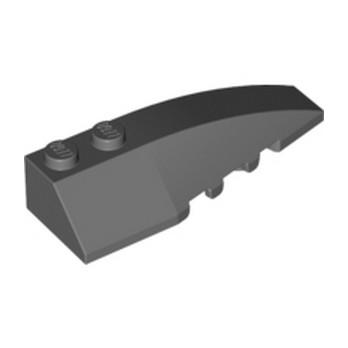 LEGO 6063685 RIGHT SHELL 2X6 W/BOW/ANGLE - DARK STONE GREY