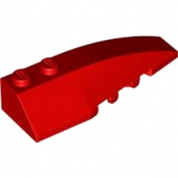 LEGO 4160105 RIGHT SHELL 2X6 W/BOW/ANGLE - ROUGE