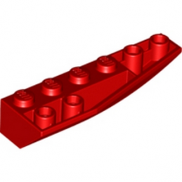 LEGO 4161263  RIGHT SHELL 2X6W/BOW/ANGLE,INV - ROUGE