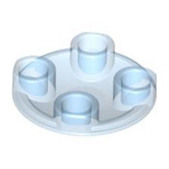 LEGO 4278407 ROND LISSE 2X2 INV - Bleu Médium Transparent