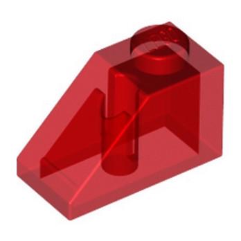 LEGO 627041 TUILE 1X2/45° - ROUGE TRANSPARENT