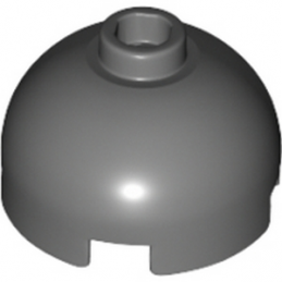 LEGO 4161674 BRIQUE RONDE DOME 2X2 - DARK STONE GREY