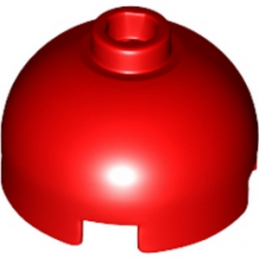 LEGO 4216657 BRIQUE RONDE DOME 2X2 - ROUGE