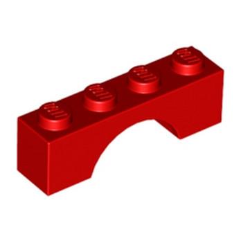 365921BRICK W. BOW 1X4 - Bright Red