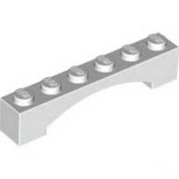 4620761	BRICK 1X6 W/INSIDE BOW - White