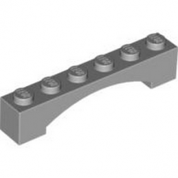 LEGO 4618874 BRICK 1X6 W/INSIDE BOW - MEDIUM STONE GREY