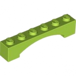 LEGO 4625474 BRIQUE 1X6 W/INSIDE BOW - BR.YEL-GREEN