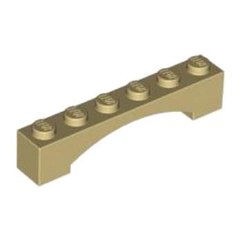 LEGO 4618876 BRIQUE 1X6 W/INSIDE BOW - BEIGE