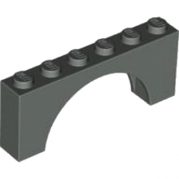 LEGO 6106191 BRICK W. BOW 1X6X2 - DARK STONE GREY