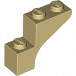LEGO 4579306 BRICK WITH BOW 1X3X2 - BEIGE