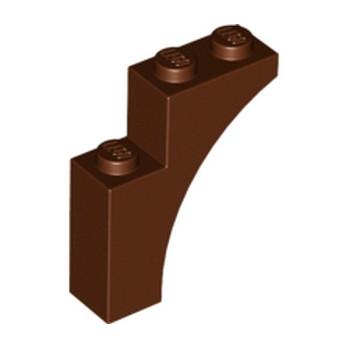 6055086 BRICK WITH BOW 1X3X3 - Reddish Brown