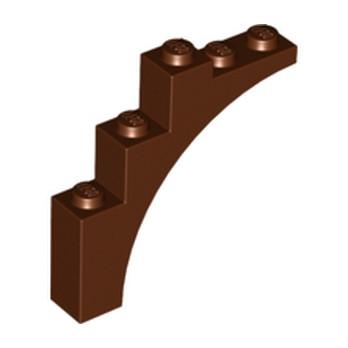 4211239BRICK W. BOW 1X5X4 - Reddish Brown