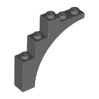 4210916 BRICK W. BOW 1X5X4 - Dark Stone Grey