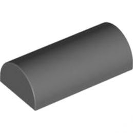 4214081 BOWED ROOF RIDGE 2X4X1 - Dark Stone Grey