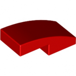 6029946	PLATE W. BOW 1X2X2/3 - Bright Red