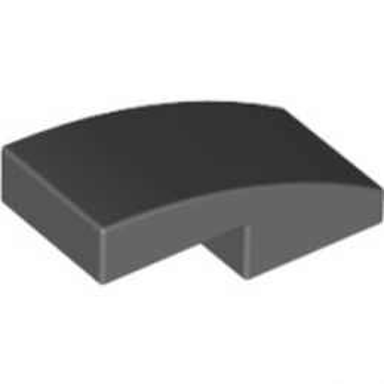 LEGO 6029948 PLATE W. BOW 1X2X2-3 - DARK STONE GREY lego-6029948-plate-w-bow-1x2x2-3-dark-stone-grey ici :