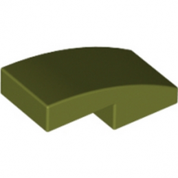 LEGO 6031787 PLATE W. BOW 1X2X2-3 - OLIVE GREEN