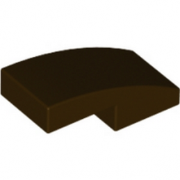 LEGO 6046943 PLATE W. BOW 1X2X2/3 - DARK BROWN