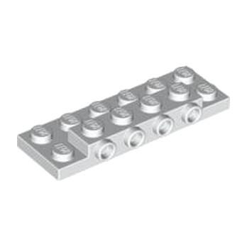 LEGO 4560929 PLATE 2X6X23 W 4 HOR. KNOB - BLANC