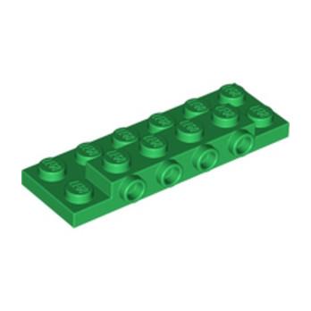 LEGO 6000070 PLATE 2X6X2/3 W 4 HOR. KNOB - DARK GREEN