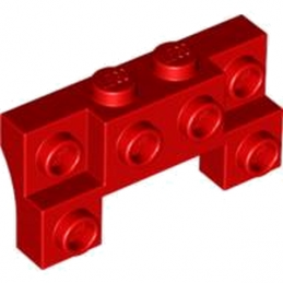 LEGO 4294692 BRIQUE 1X4X1 2/3 W. V. KNOBS - ROUGE