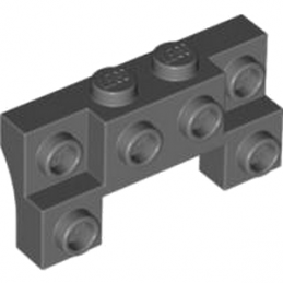LEGO 4264898 BRIQUE 1X4X1 2/3 W. V. KNOBS - DARK STONE GREY lego-6066119-brique-1x4x1-23-w-v-knobs-dark-stone-grey ici :