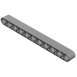LEGO  4156151 	TECHNIC 11M BEAM - Medium Stone Grey