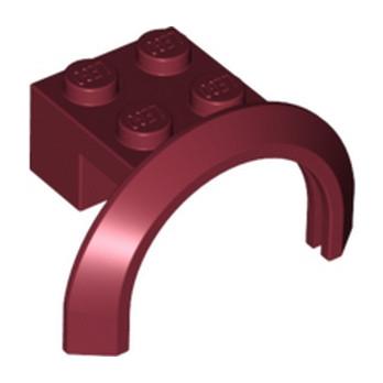 LEGO 4621617 GARDE BOUE 2X4X1 - NEW DARK RED