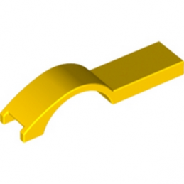 LEGO 6079002  COVER PLATE W. CURVE 1 X 4.5 - JAUNE