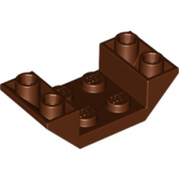 LEGO 6039192  ROOF TILE 2X4 INV. - REDDISH BROWN