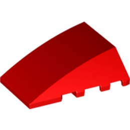 LEGO 6074878 BRIQUE 4X4 W. BOW/ANGLE - ROUGE