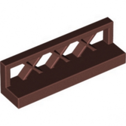 LEGO 6192371 CLOTURE / BARRIERE 1X4X1 - REDDISH BROWN