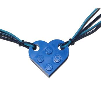 Collier Brique Lego - Collier Coeur Bleu