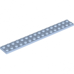 LEGO 6074915 PLATE 2X16 - LIGHT BLUE ROYAL