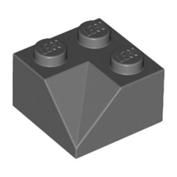 LEGO 4210702 TUILE 2X2/45° INSIDE - DARK STONE GREY