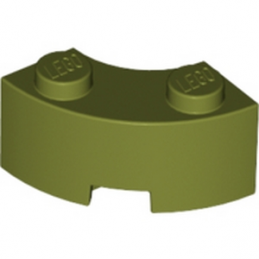 LEGO 6016473 BRICK 2X2W.INSIDE AND OUTS.BOW - Olive Green