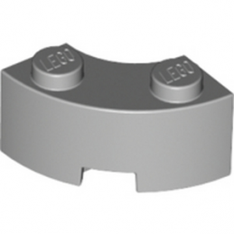 LEGO 4543240 	BRICK 2X2W.INSIDE AND OUTS.BOW - Medium Stone Grey