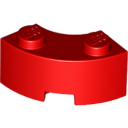 LEGO 4543239 BRICK 2X2W.INSIDE AND OUTS.BOW - ROUGE