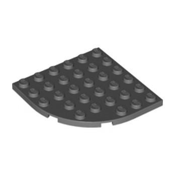 LEGO 4500517 - PLATE 6X6 W. BOW - Dark Stoe Grey