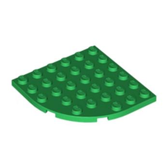 LEGO 600328 PLATE 6X6 W. BOW - Dark Green
