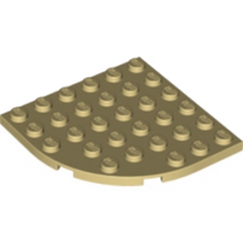 LEGO 6056484 - PLATE 6X6 W. BOW - BEIGE