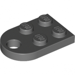 LEGO 4225733  COUPLING PLATE 2X2  - DARK STONE GREY