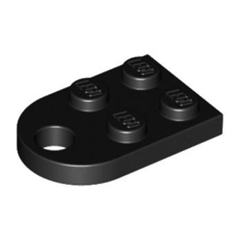 LEGO 317626 COUPLING PLATE 2X2  - NOIR