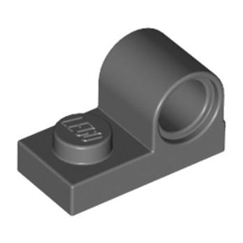 LEGO  6019987 PLATE 1X2 W. HOR. HOLE Ø 4.8 - Dark Stone Grey lego-6019987-plate-1x2-w-hor-hole-o-48-dark-stone-grey ici :