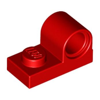 LEGO 6099736 - PLATE 1X2 W. HOR. HOLE Ø 4.8 - Rouge