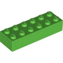 LEGO 6102903 - BRIQUE 2X6 - BRIGHT GREEN lego-6102903-brique-2x6-bright-green ici :