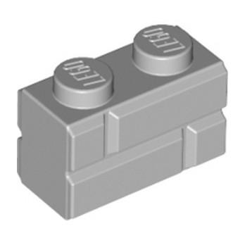 LEGO 6000066 BRICK 1X2 - MEDIUM STONE GREY