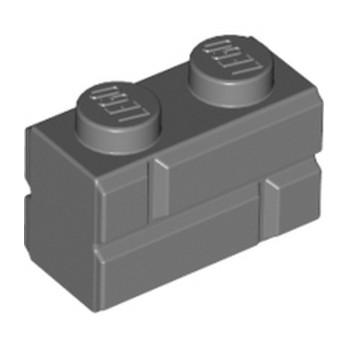 LEGO 6000311 BRICK 1X2 - DARK STONE GREY
